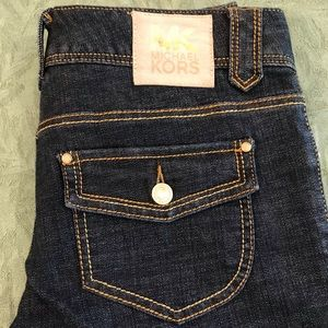 Michael Kors dark wash bootcut trouser jeans